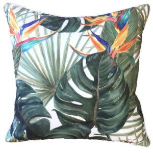 Bahama Orange Outdoor Cushion