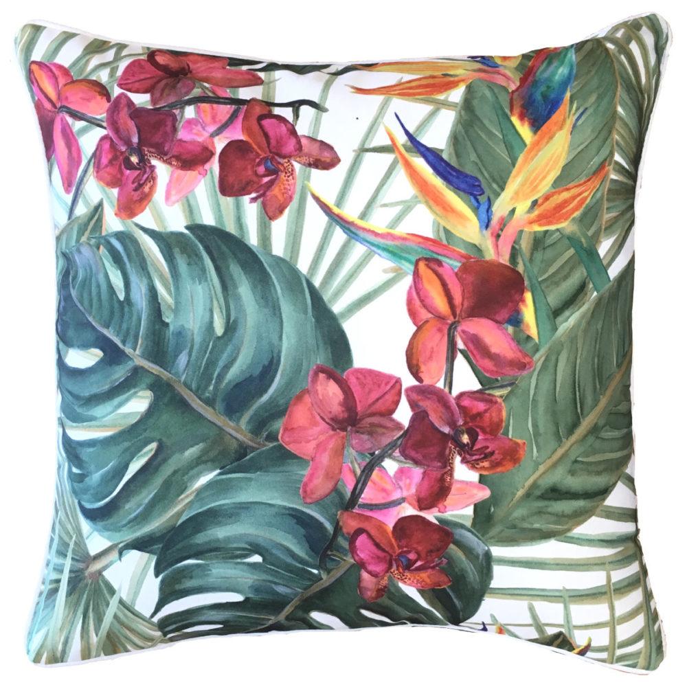 Bahama Pink Orchid Cushion