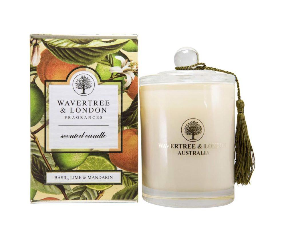 Basil Lime and Mandarin Candle