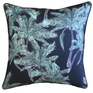Vintage Palm Black Outdoor Cushion