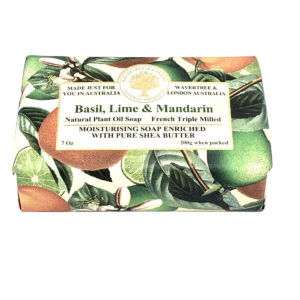 Basil Lime and Mandarin Soap