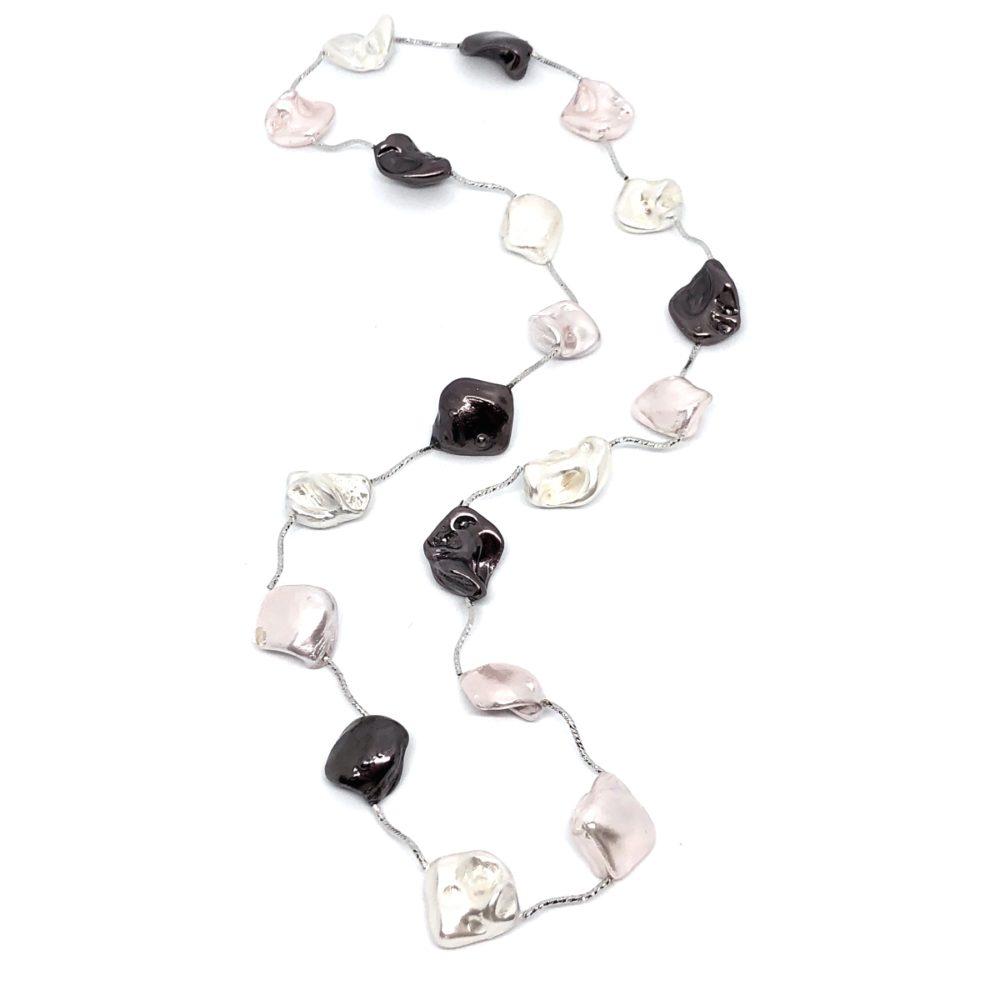 Cayman Island Necklace - Blush mix/Silver
