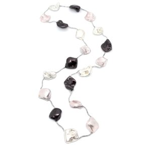 Cayman Island Necklace - Blush mix/Silver