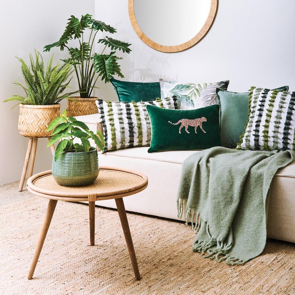 Cabana Style Green Cushions