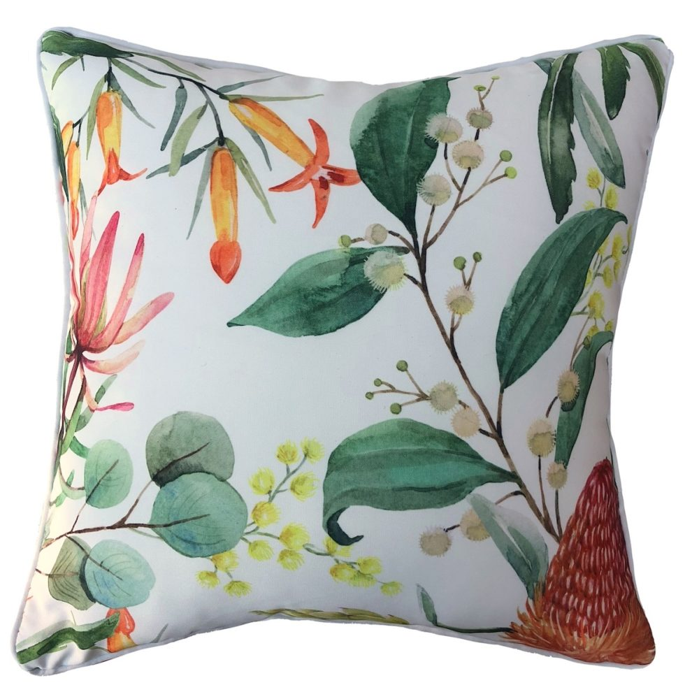 Banksia White Cushion