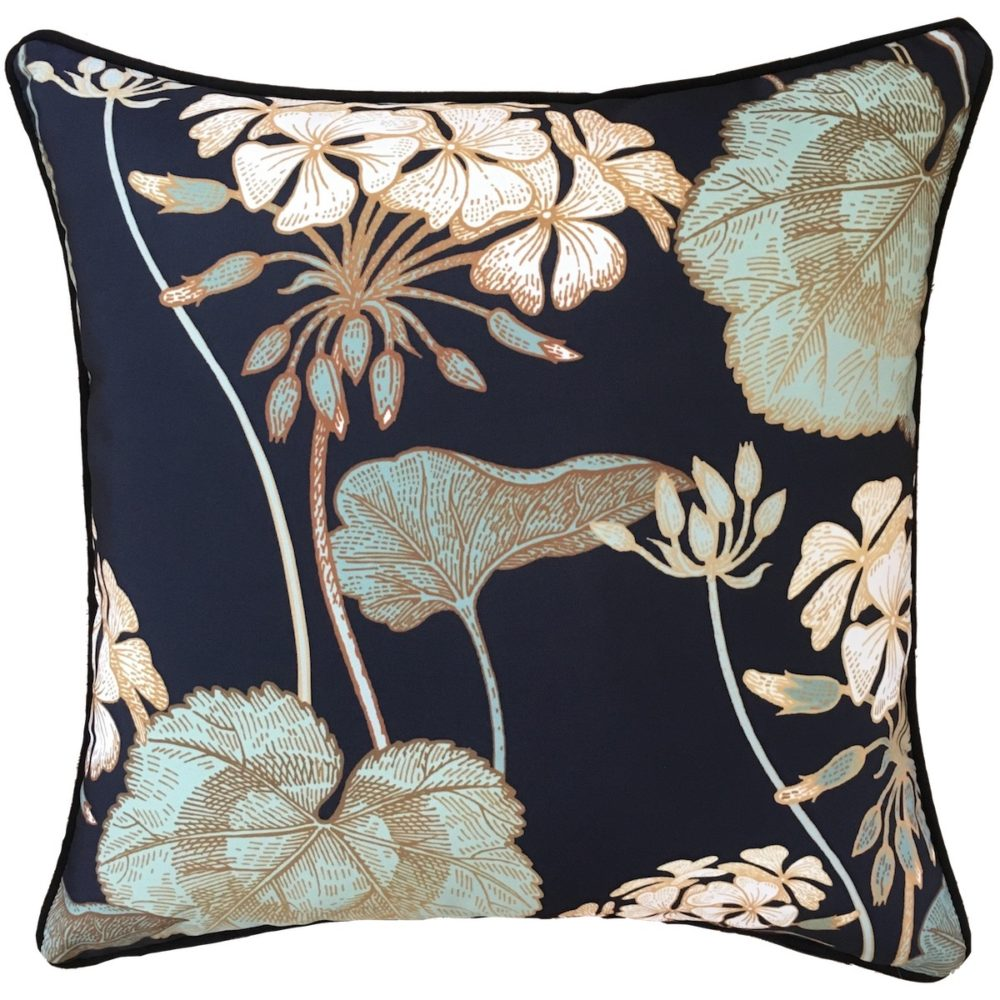 Celadon Navy Cushion