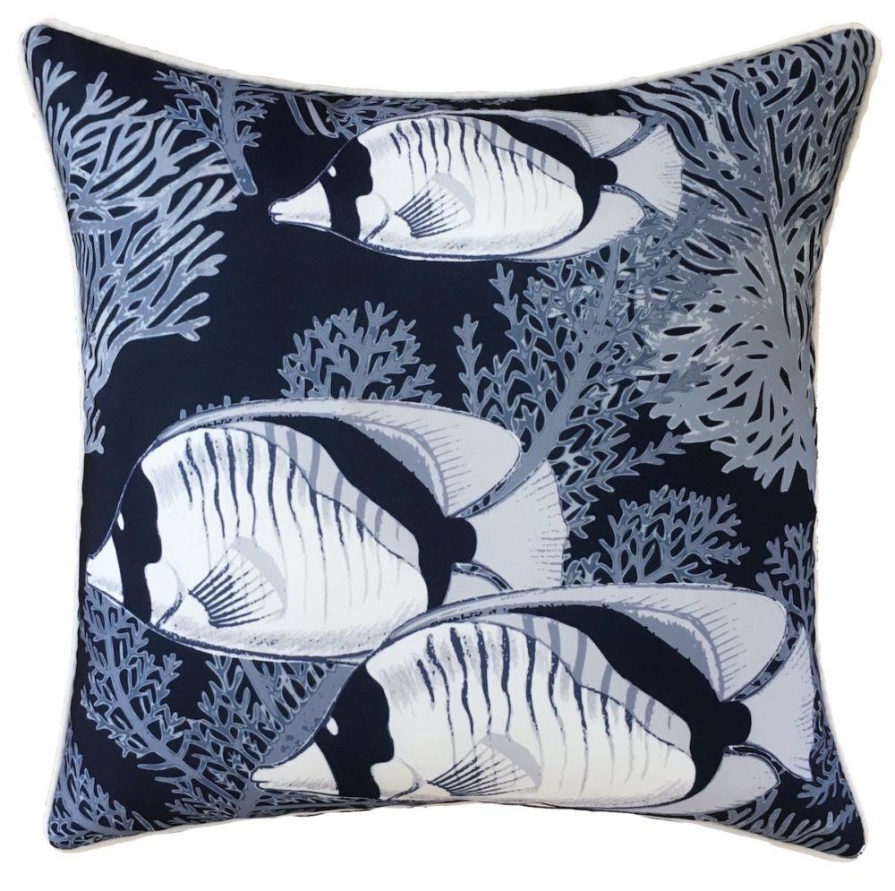 Coral Cove Navy Cushion