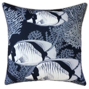Coral Cove Navy Cushion