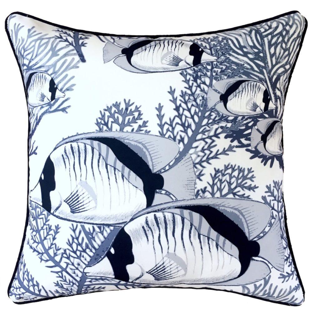 Coral Cove White Cushion