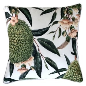 Exotic Blooms White cushion