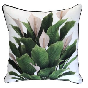 Peace Lily Outdoor Cushion
