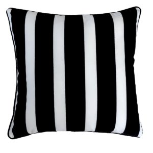 Black And White Stripe Outdoor Cushion