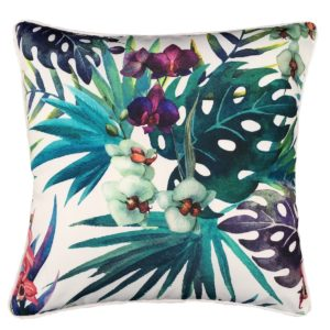 White Cocky Flower Cushion