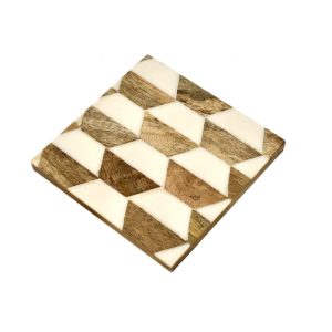 Herringbone Inlay Coaster