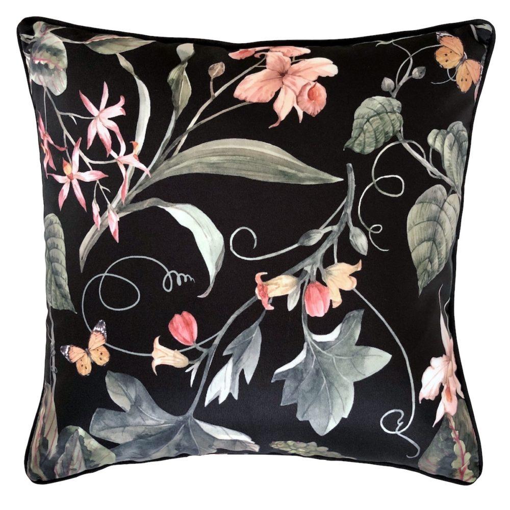 Sweetpea Black Outdoor Cushion