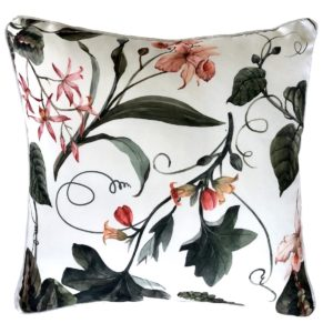 Sweetpea White Outdoor Cushion