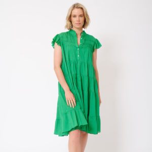 Giselle Dress Emerald - Alessandra