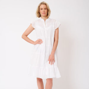 Giselle Dress White - Alessandra