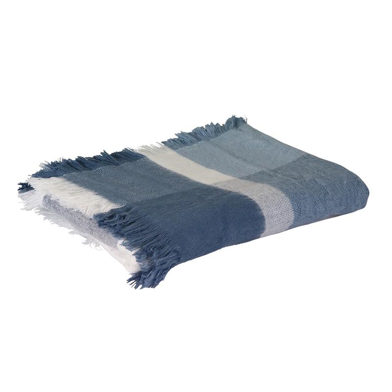 Argyle Blue Check Throw