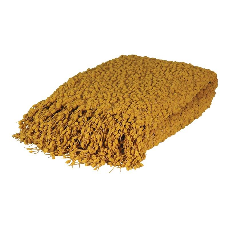 Alpine Throw Mustard