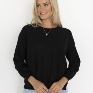 Novah Knit Top Black - Humidity Lifestyle