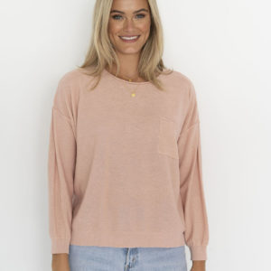 Novah Knit Top Blush - Humidity Lifestyle