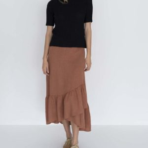 Macy Wrap Skirt Cinnamon - Humidity Lifestyle