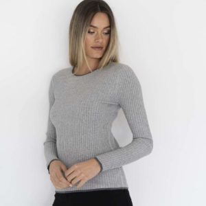 Racer Rib Top Light Grey - Humidity Lifestyle