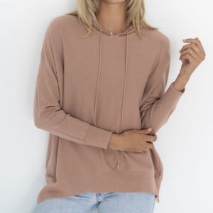 Faith Knit Hoodie Deep Blush - Humidity Lifestyle