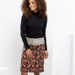 Rosanna Skirt Long Queens Print - Boom Shankar