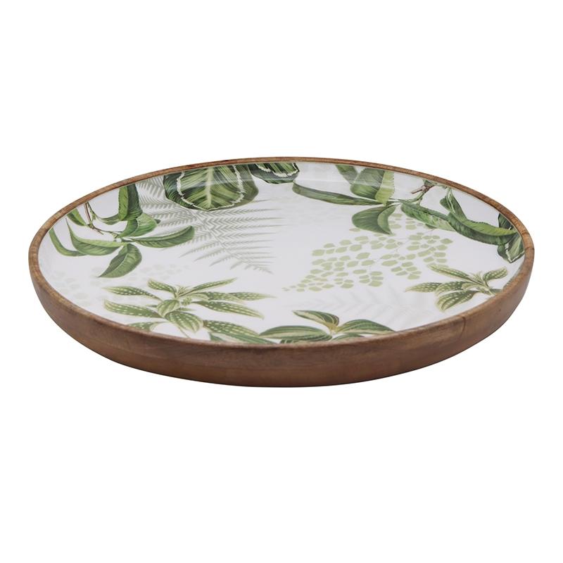 Harlem Green Shallow Bowl