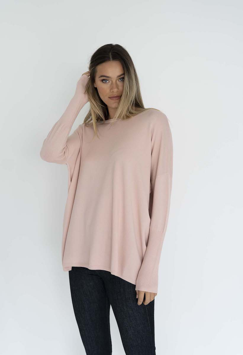 Rosie Knit Top Blush - Humidity Lifestyle