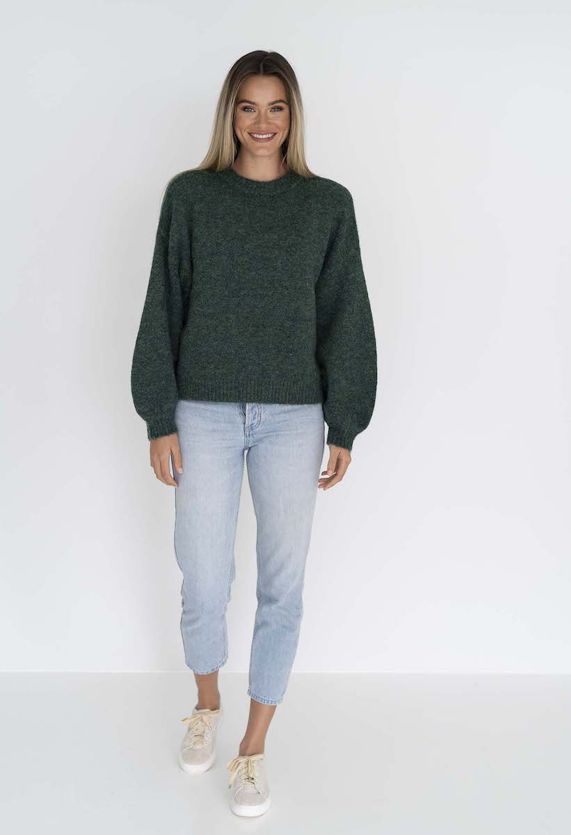 Neve Jumper Green - Humidity Lifestyle