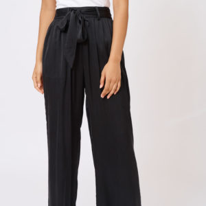 Silk Chantal Pant Black - Alessandra
