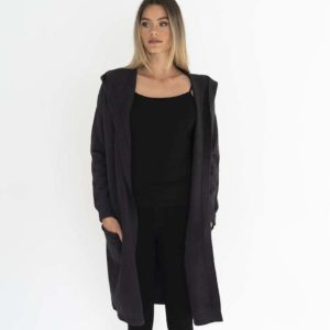 Chloe Knit Jacket Charcoal - Humidity Lifestyle