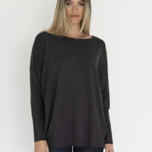 Rosie Knit Top Charcoal - Humidity Lifestyle