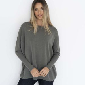 Rosie Knit Top Khaki - Humidity Lifestyle