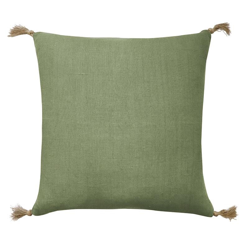Goa Green Linen Cushion