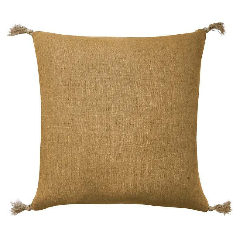 Goa Mustard Linen Cushion