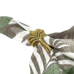 Brass Napkin Ring - Palm Tree