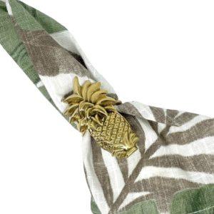 Brass Napkin Ring Pineapple