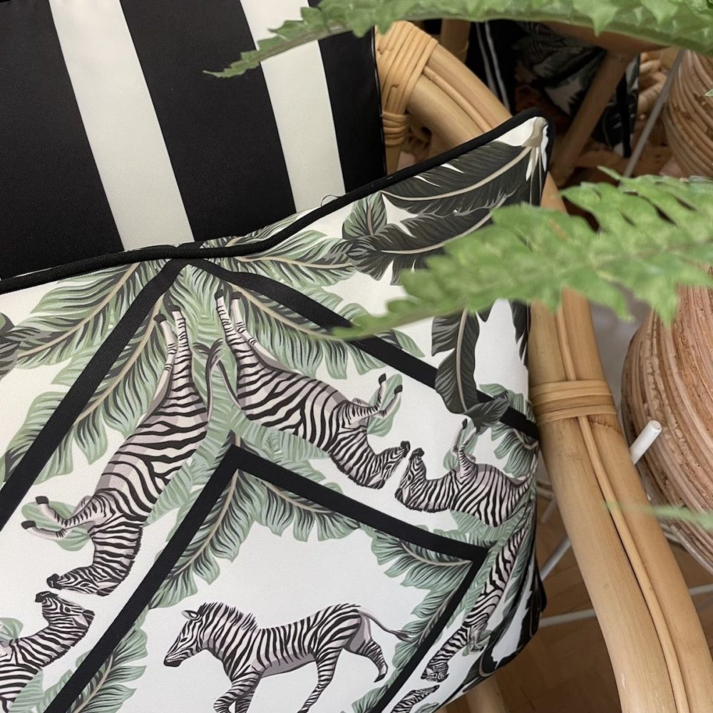 Serengeti Zebra Outdoor Cushion