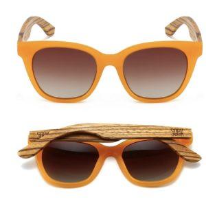 Lila Grace Burnt Orange Sunglasses By SOEK