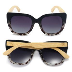Riviera Black/Ivory Tortoise Sunglasses By SOEK