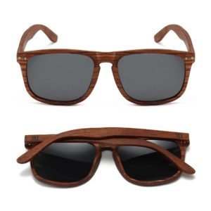 Nomad Rosewood Frame Sunglasses By SOEK