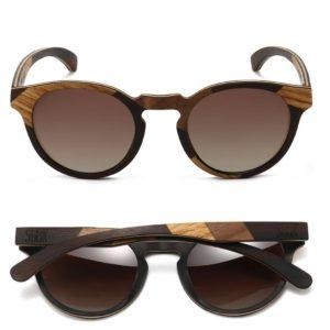 Drifter Maple and Ebony Wooden Frame Sunglasses By SOEK