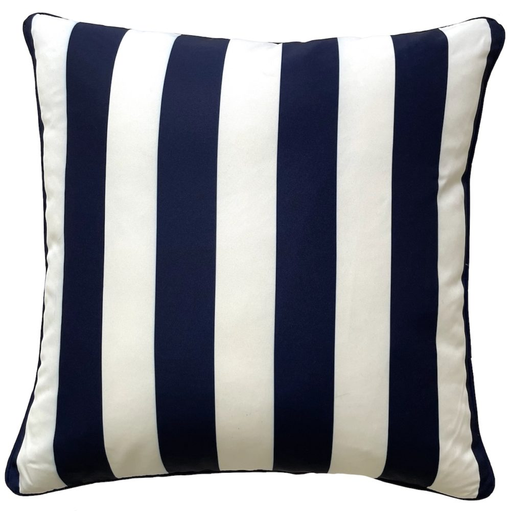 Jetty Navy And White Stripe Outdoor Cushion