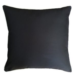 Plain Black Outdoor Cushion