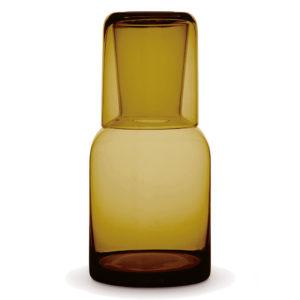 Glass Water Carafe Set Amber