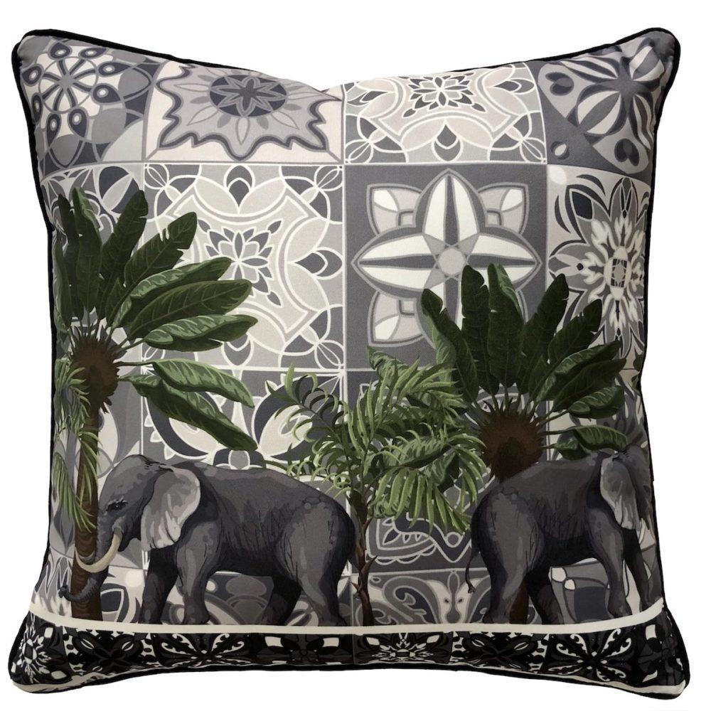 Bengali Elephant Outdoor Cushion